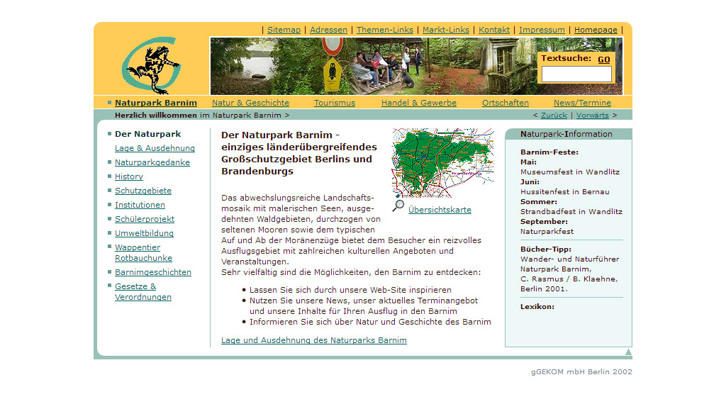 Website Naturpark-Barnim