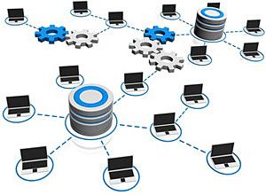 Grafik Serververnetzung