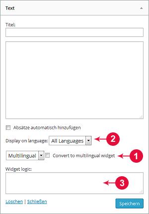 Abbildung WPML-Widgets