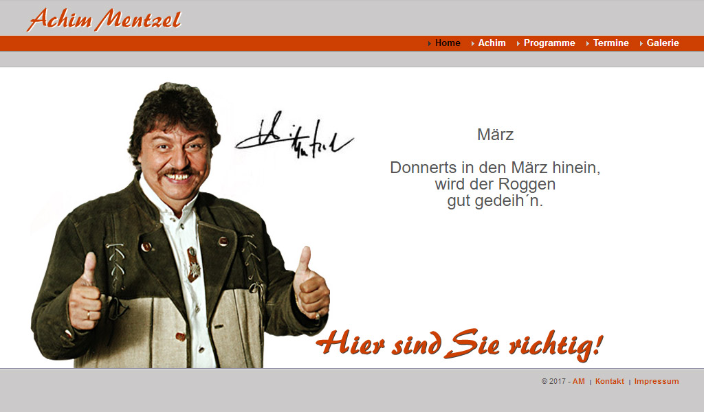 Website Achim Mentzel