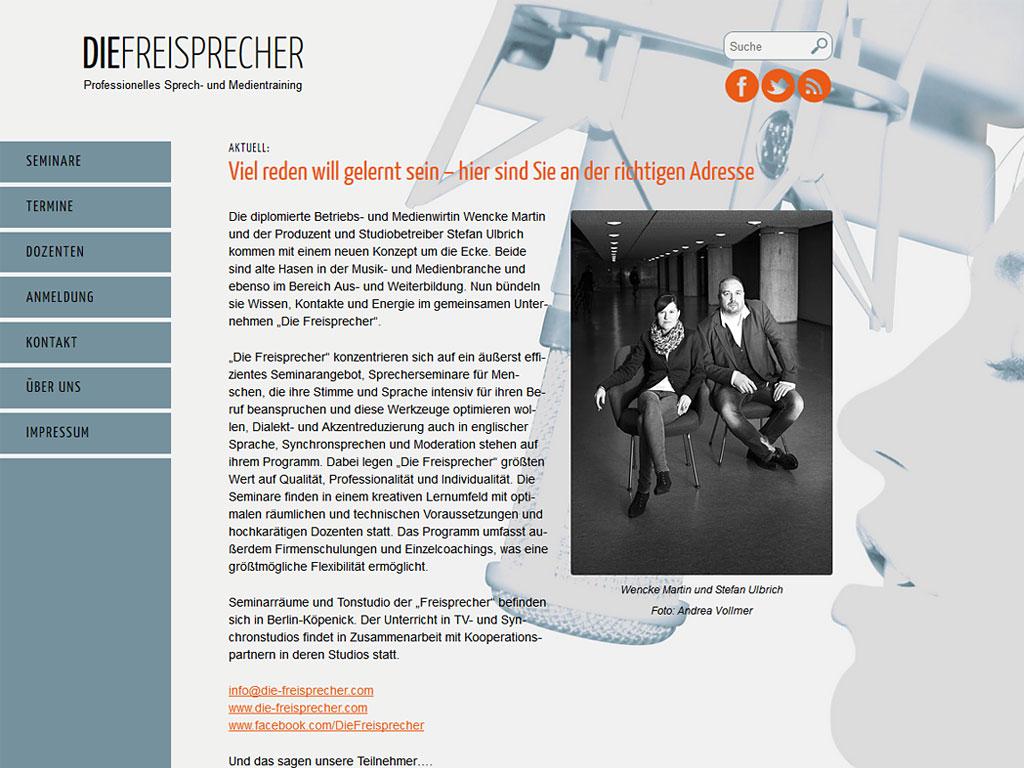 Website Die Freisprecher