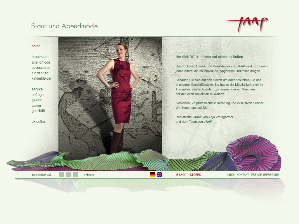 Website JAAP Brautmode Berlin