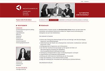 Website Anwaltskanzlei JRR