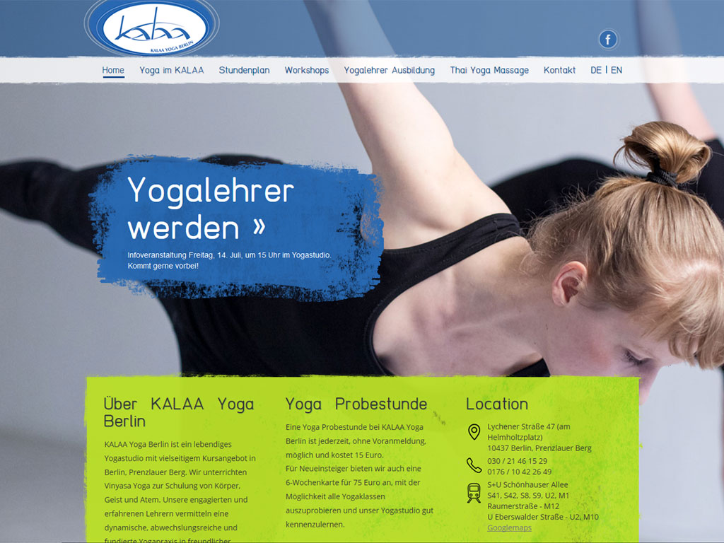 Website KALAA Yoga
