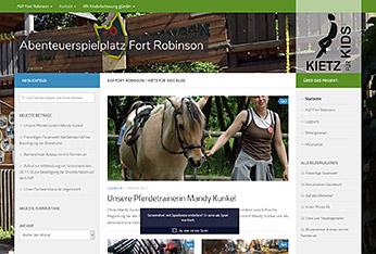 Website Abenteuerspielplatz Fort Robinson