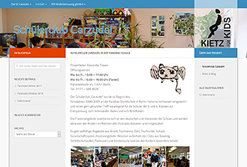 Website Schülerclub Carzudel