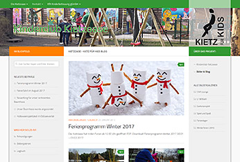 Website Kinderclub Kietzoase