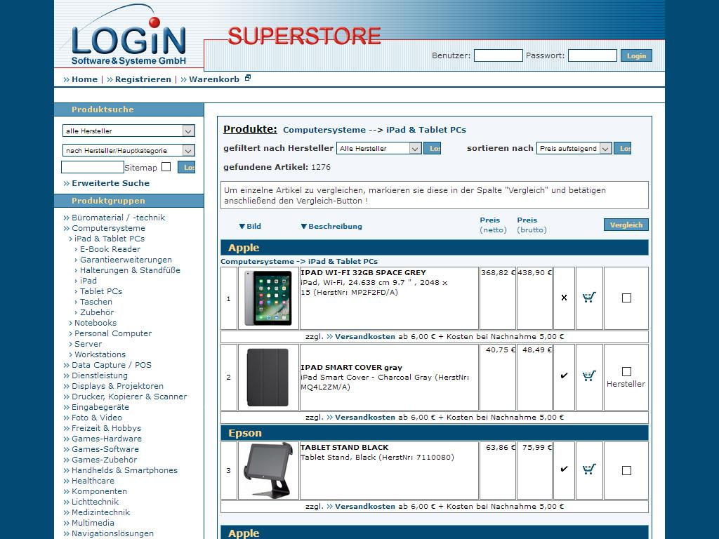 Website Login Superstore