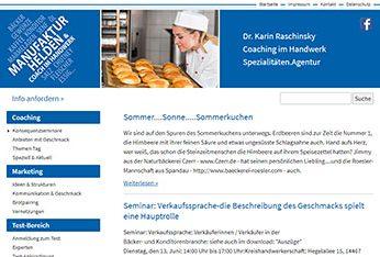 Website der Spezialitäten.Agentur Manufaktur Helden