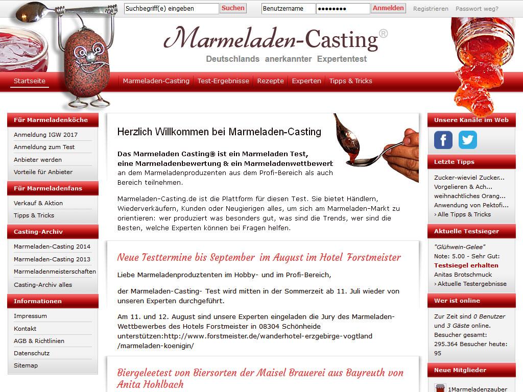 Website Marmeladen-Casting