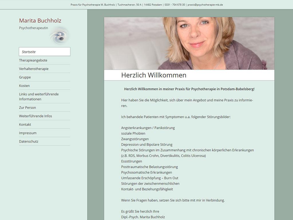 Website der Praxis für Psychotherapie Marita Buchholz