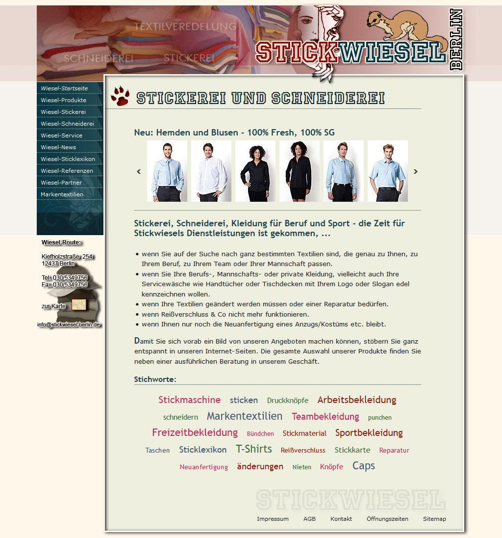 Website Stickwiesel-Berlin