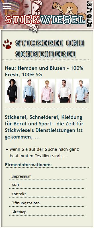mobile Ansicht Web Stickwiesel
