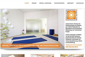 Website der Praxis für Strahlentherapie