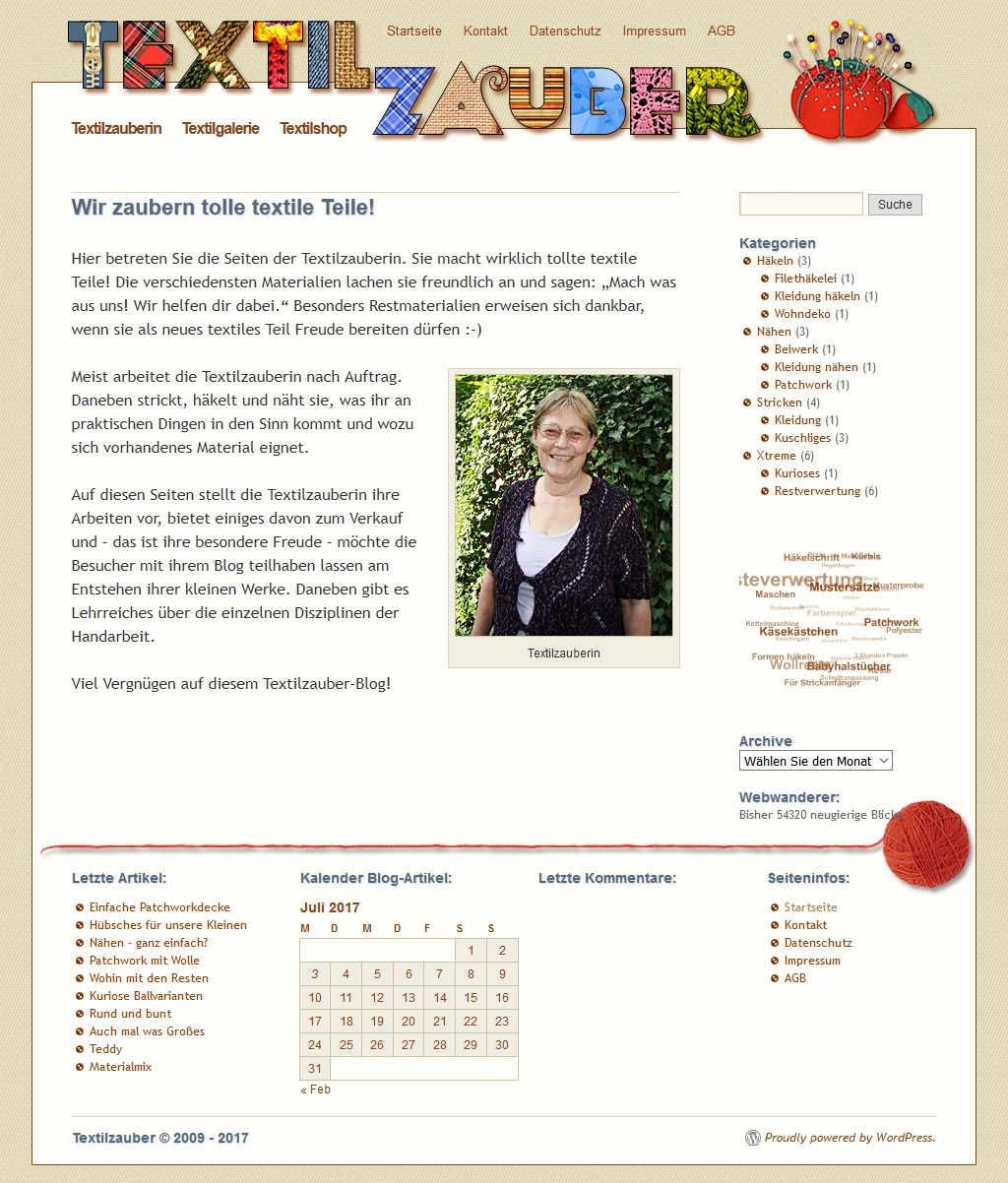 Website Textilzauber