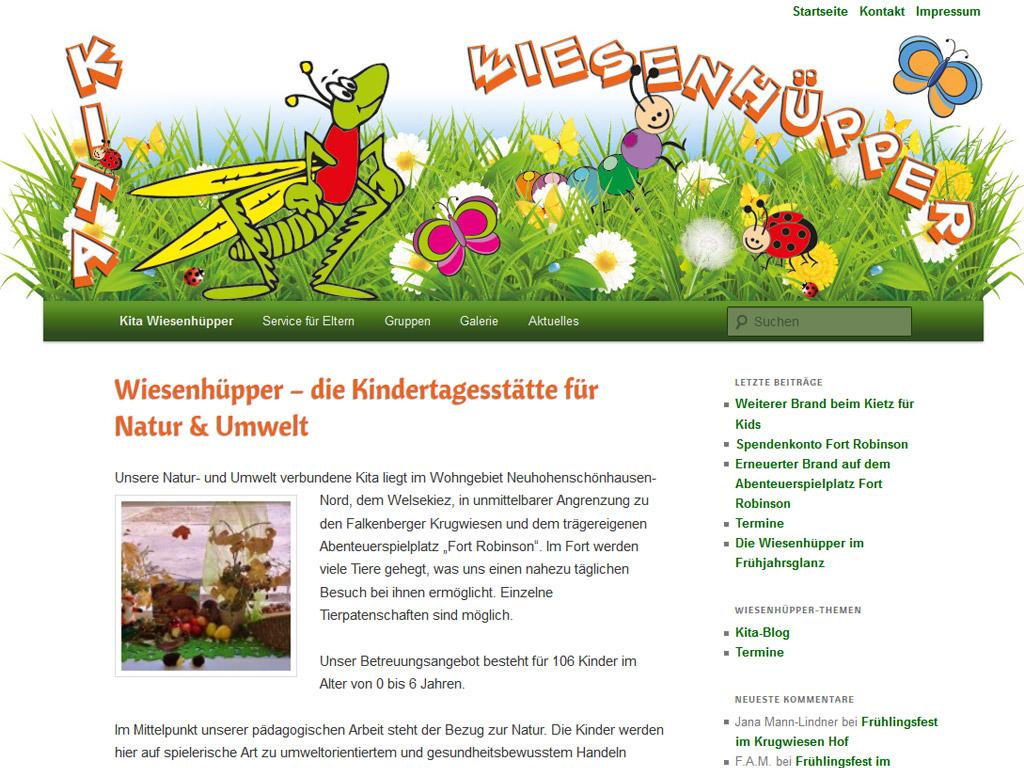 Website Kita Wiesenhüpper