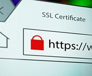Browserzeile mit SSL-Zertifikat