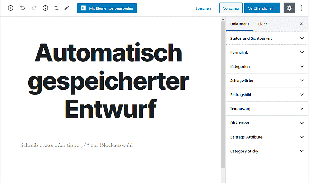 WordPress Block-Editor